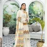 ADAN'S LIBAS   SHIFFLI EMBROIDERED SUMMER Collection   CREAMED BUTTER