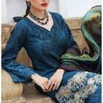 "ALZOHAIB | AZ 'FESTIVE HUES' PREMIUM COLLECTION'2021 | FHPC'21-11 ""Dark Blue"""