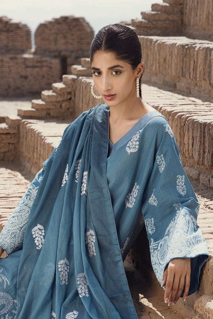 TENA DURRANI | Embroidered Lawn Suits | Aegean
