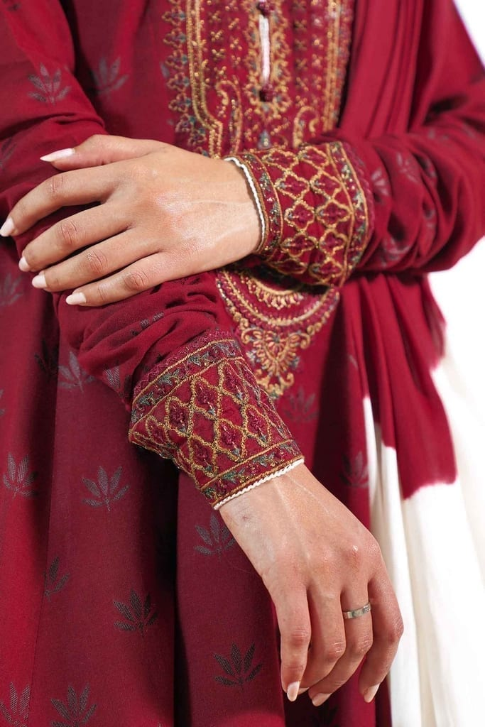 ZARA SHAHJAHAN | Embroidered Lawn Suits | HEER-A