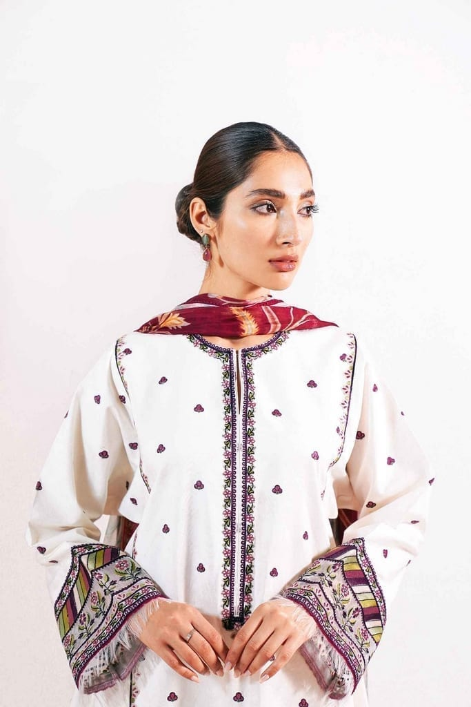 ZARA SHAJAHAN | Embroidered Lawn Suits | ZS21L 01 Meesha-A