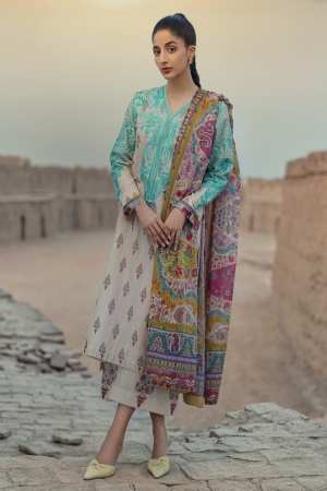 TENA DURRANI | Embroidered Lawn Suits | Feroza