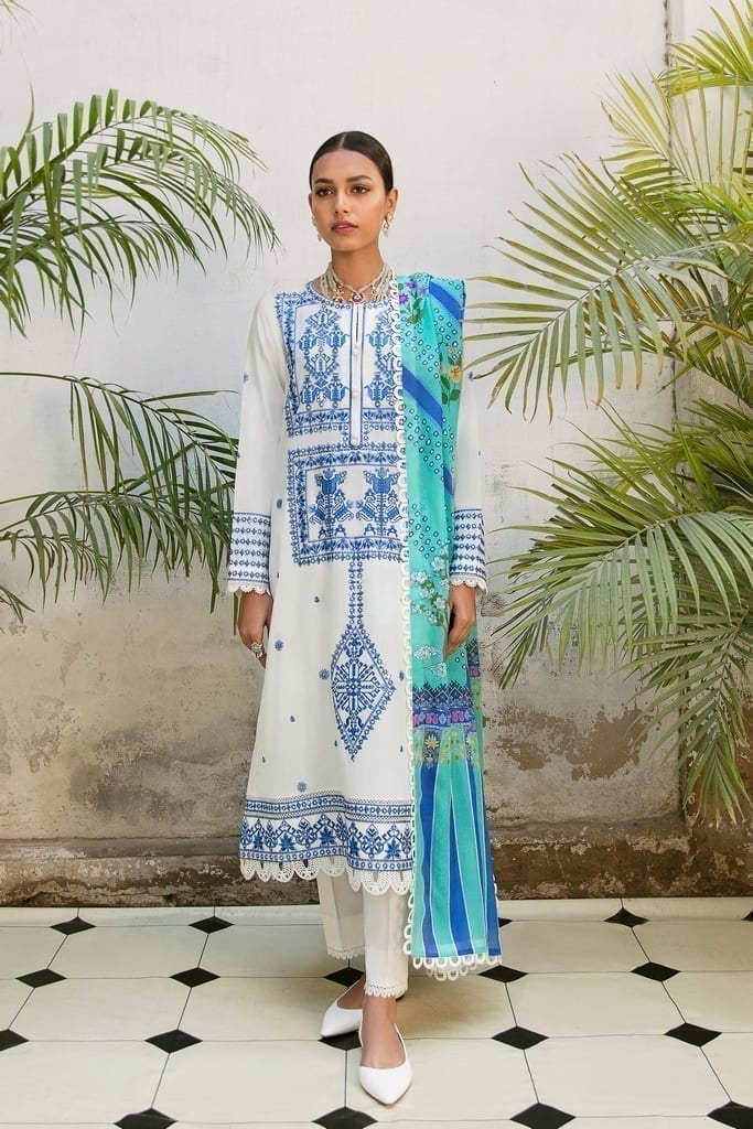 ZAHA LAWN | Embroidered Lawn Suits | BISHA (ZL21-11 A)