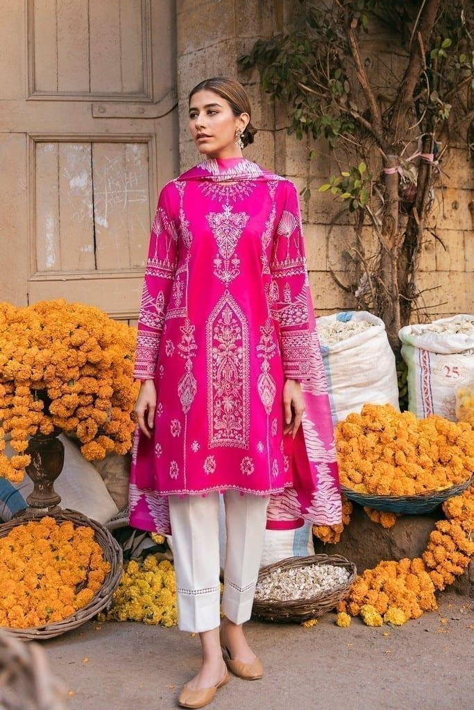 ZAHA LAWN   Embroidered Lawn Suits   ZEBA (ZL21-05 B)