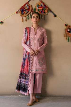 ZAHA LAWN | Embroidered Lawn Suits | NEZM (ZL21-01 B)