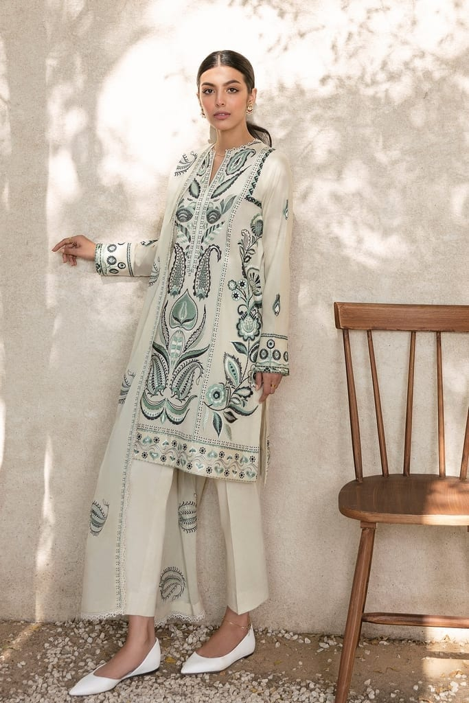 ZAHA LAWN | Embroidered Lawn Suits | SAREH (ZL21-06 B)