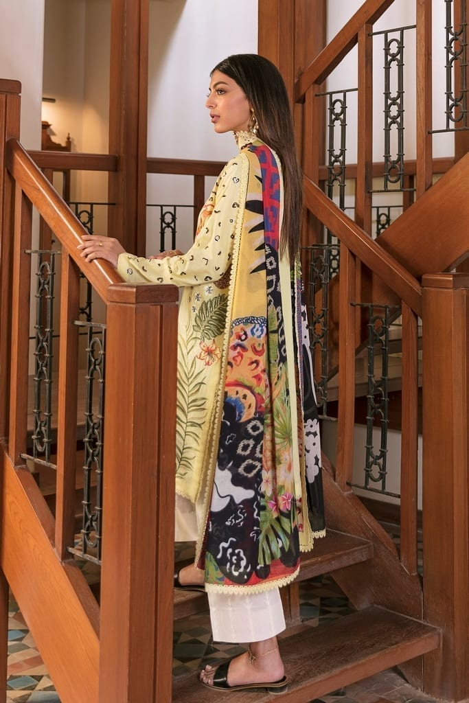 ZAHA LAWN | Embroidered Lawn Suits | VERD (ZL21-02 B)
