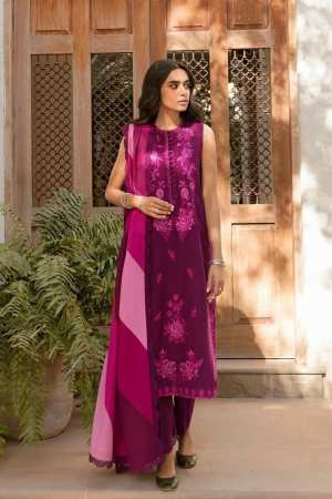 ZAHA LAWN | Embroidered Lawn Suits | ABR (ZL21-13 B)