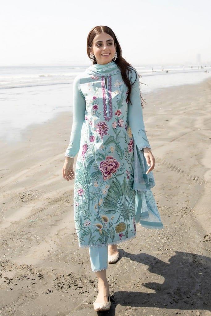 ZAHA LAWN   Embroidered Lawn Suits   ZASTAR (ZL21-09 A)
