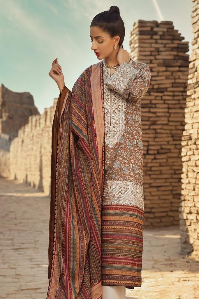 TENA DURRANI | Embroidered Lawn Suits | Travertine