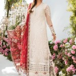 MARIA B | MBROIDERED EID FESTIVE | Off White and Deep Red (BD-2103)