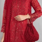 MARIA B | READY TO WEAR CASUAL  | Suit Red DW-EA20-01