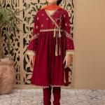 MARIA B   KIDS COLLECTION   Suit Maroon MKD-EF21-09