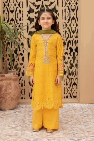 MARIA B | MOMMY N ME | READY TO WEAR | Suit Yellow MKD-EF21-26