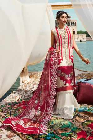 CRIMSON BY SAIRA SHAKIRA | LUXURY SUMMER Collection'21 | 5B LACE GLORE SANGIRA