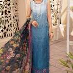 NOOR BY SAADIA ASAD | EID CHIKANKARI VOL-02 | D12-COBALT-BLUE-OMBRE