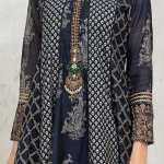 MARIA B   READY TO WEAR CASUAL Collection   Suit Blue DW-EA21-05