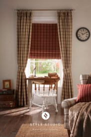 Elgin-Praline-Curtain_Elgin-Cranberry-Roman-Room