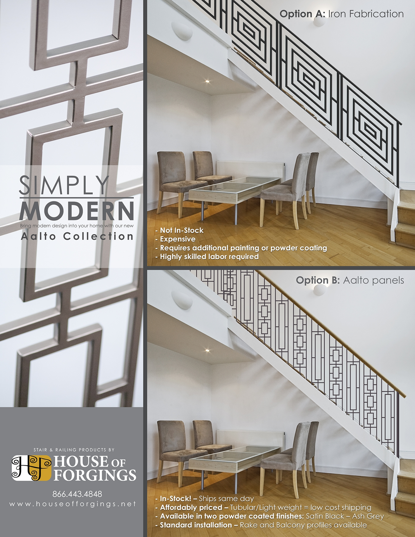 Get The Modern Fabricated Railing Look For Less | Black Modern Stair Railing | Glass | Raised Ranch | Minimalist | Interior | Chris Loves