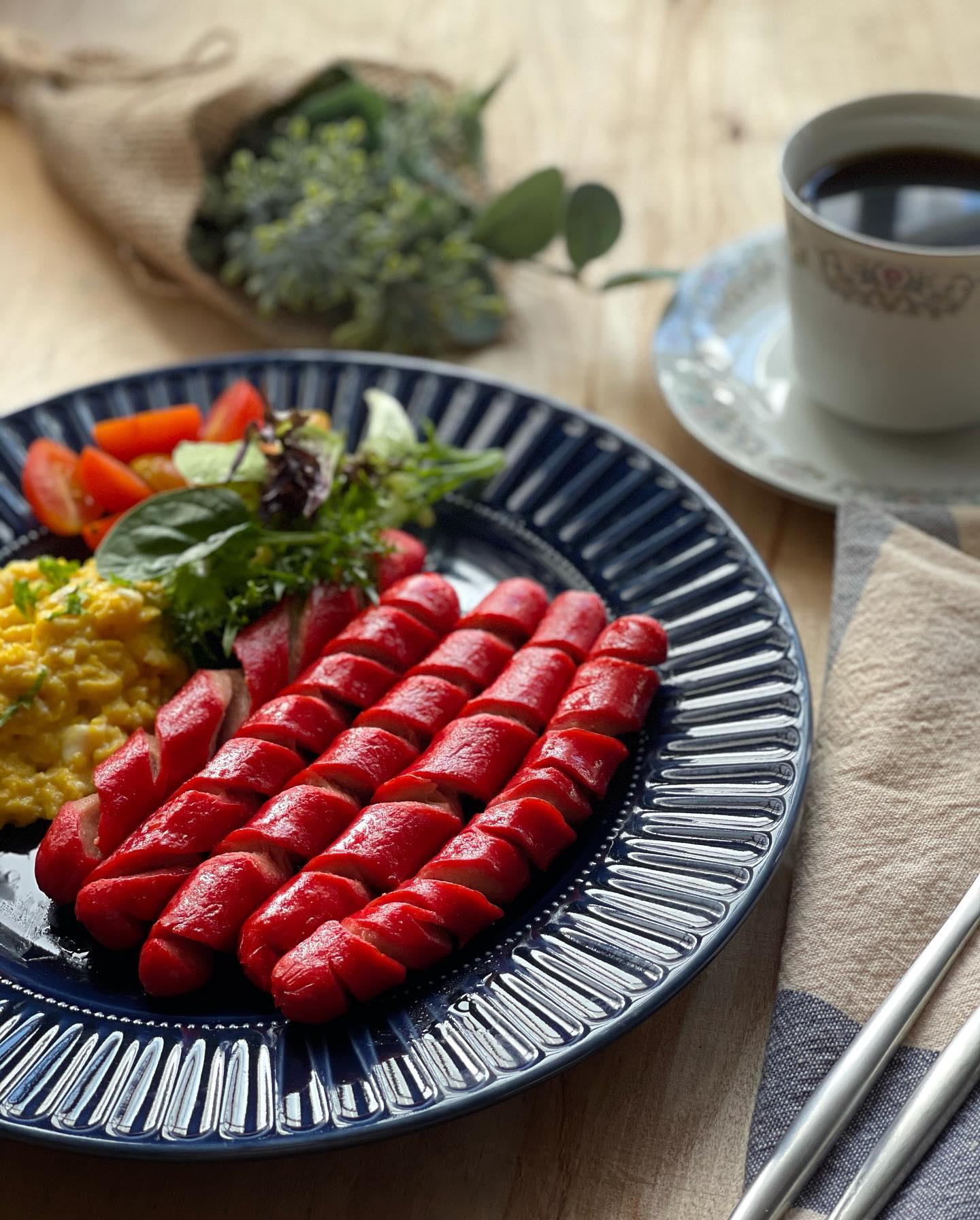 Classic American Breakfast - Hotdog with Scrambled Eggs - House of Hazelknots
