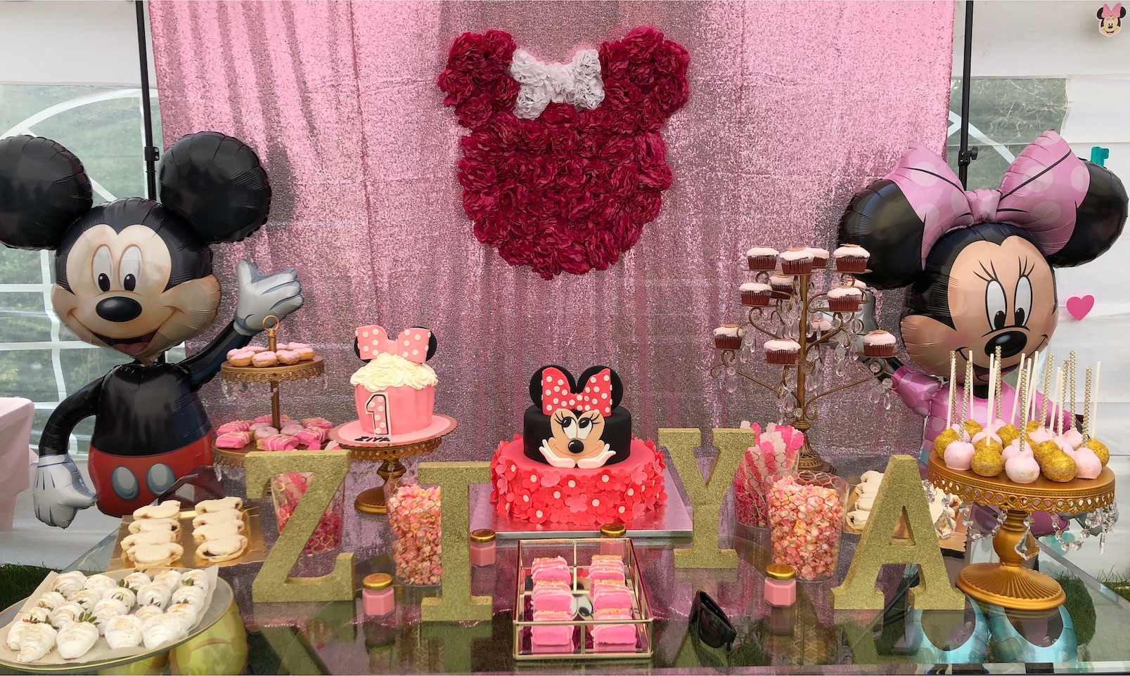 Minnie Mouse Themed Birthday Party Ideas For 1 Year Old Girls House Of Ideas
