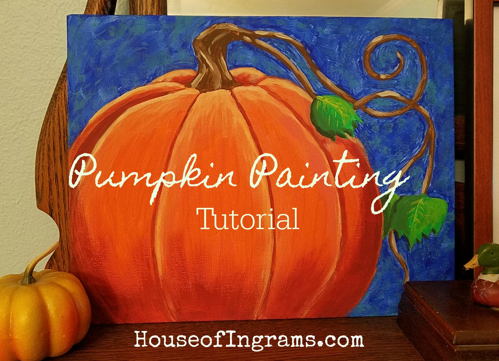 Acrylic Pumpkin Canvas Painting Tutorial