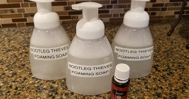 "DIY ""Thieves"" Foaming Hand Soap"