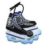 personalized hockey skates ornament