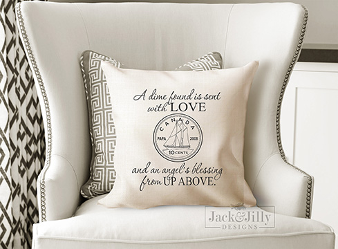 dimes from heaven pillow cover