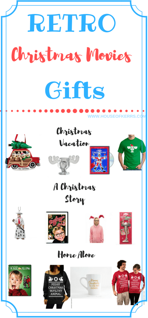 retro christmas movie gifts griswolds, home alone, a christmas story, christmas vacation