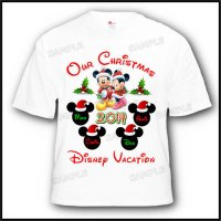 disney vacation christmas family customized shirt