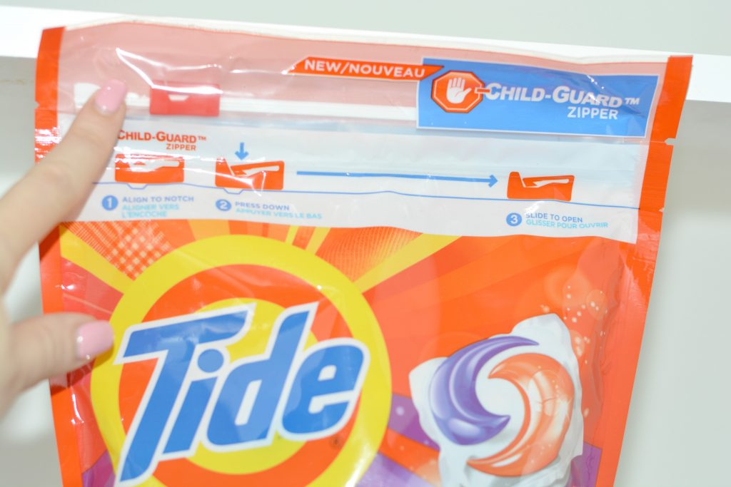 Tide PODS safe storage Child-guard Zipper