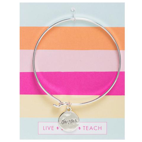 Teacher Gift | INSPIRE silver necklace by foxy originals