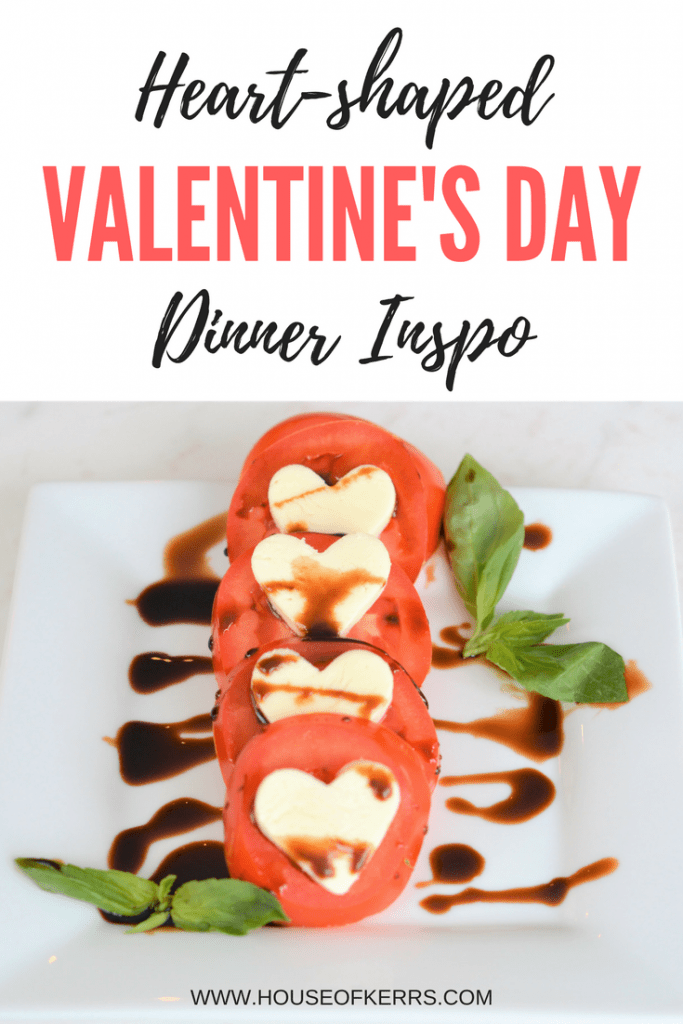Heart-shaped Valentine's Day Pizzas | Easy Italian Meals | Antipasto | Heart-shaped appetizer | Caprese Salad