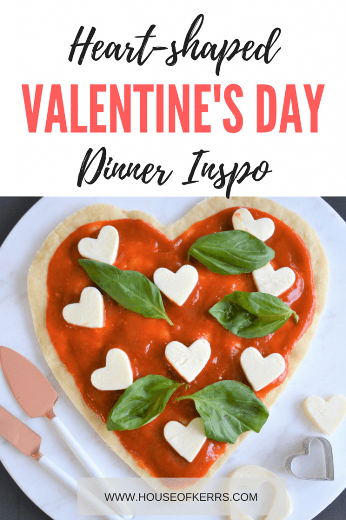 Heart-shaped Valentine's Day Pizzas _ Easy Italian Meals _ How to Make Heart-Shaped Pizzas.Caprese Salad