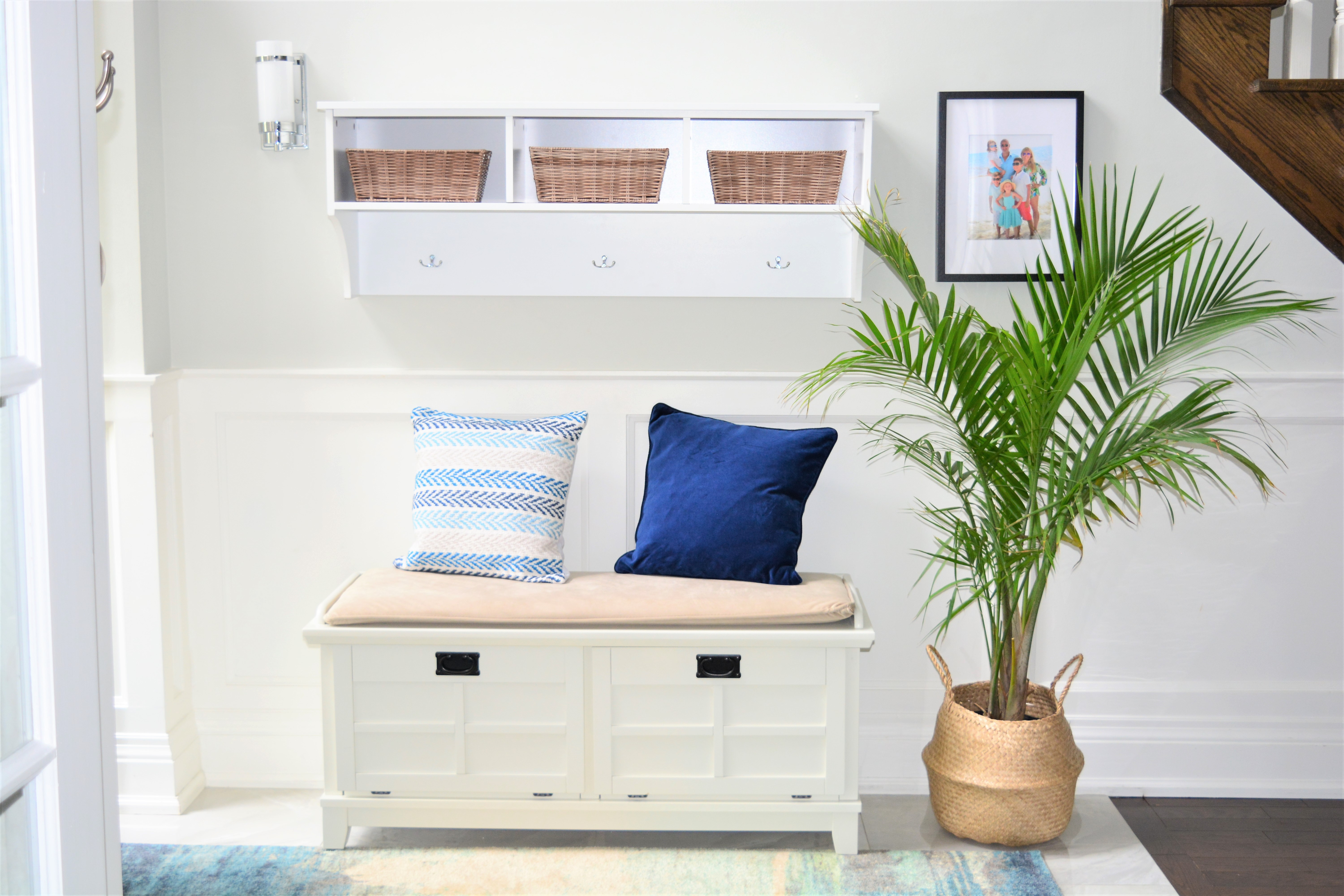 Marvelous Front Entryway Reveal Giveaway With Wayfair Canada Theyellowbook Wood Chair Design Ideas Theyellowbookinfo
