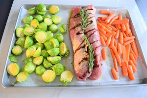sheet pan pork and roasted vegetables