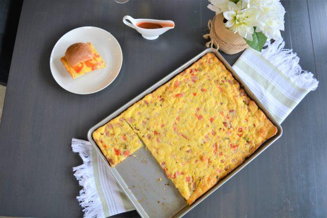 Sheet Pan Ham + Veggie Egg Sandwiches | Mom approved Brunch Recipes | Spring Recipes