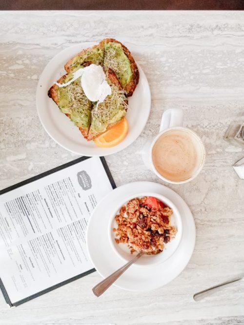 thornbury bakery cafe menu avocado toast latte yogurt parfait