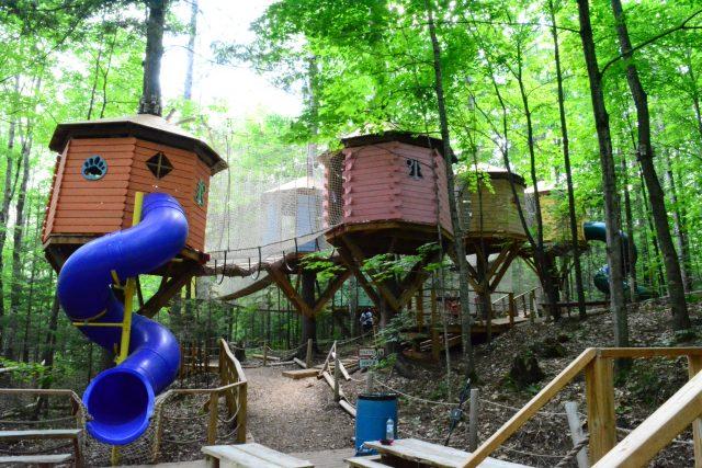 kids treetop park Arbraska Rawdon | Arbres du ciel