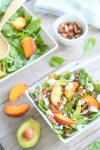 Summer Peach Spinach Salad | Easy Peach Recipes | La Cucina di Kerrs | Eat Local Grown | Simple Family Meals | Flexitarian Meals