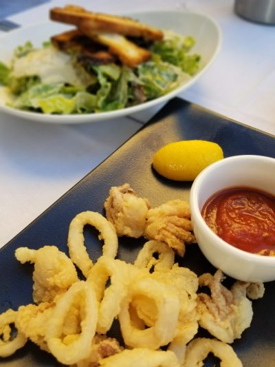 Coco pazzo antipasti primi piati salads calamari tremblent menu