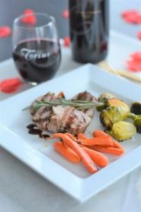 Balsamic Glaze Pork + Roasted Veggies