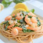 House of Kerr's shares a One-Pot Lemon Garlic Spinach Shrimp Pasta. Seafood & lemon combined are said to bring good furtune & purification!