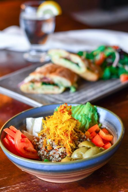 lunch buddah bowl grilled cheese
