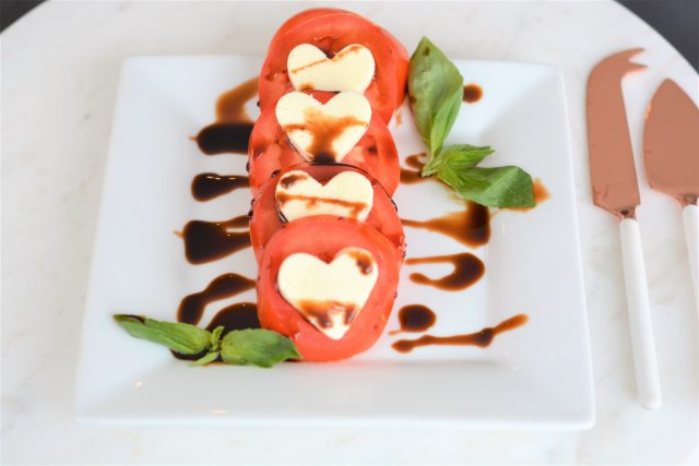 heart-shaped caprese salad pizza house of kerrs date night recipe
