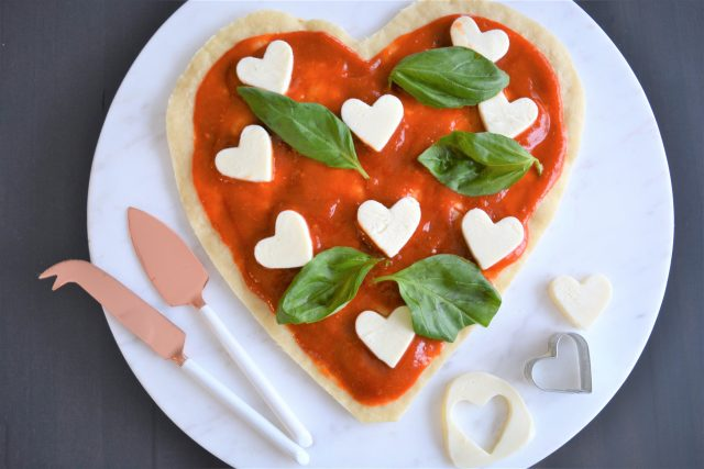heart shaped pizza margherita houseofkerrs.com date night recipe