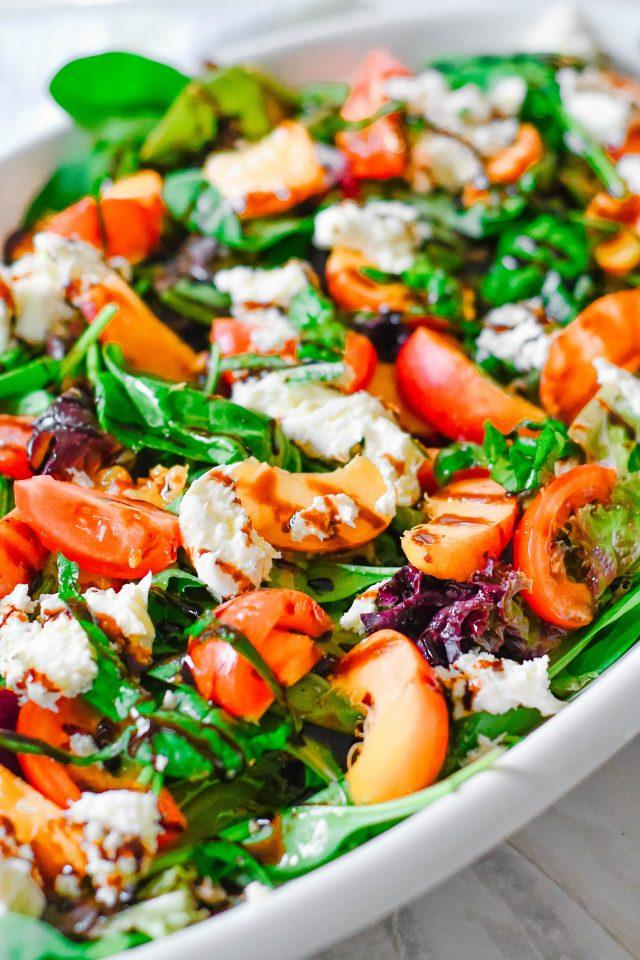 Peach Caprese Salad Family Style