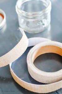 adhesive jute for jarcuterie mason jars