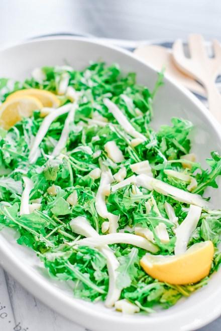 arugula fennel lemon salad
